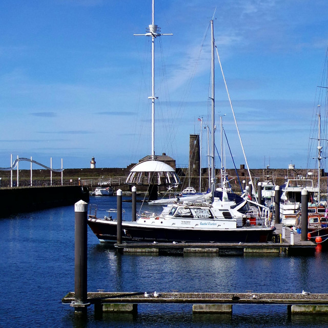 """Whitehaven Harbour"" stock image"