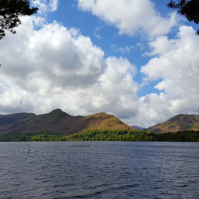 """View of Derwent Water"" stock image"