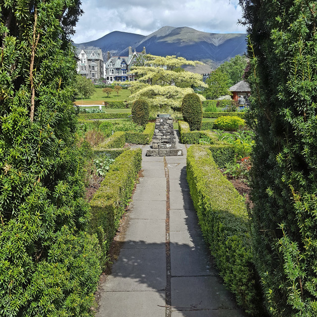"""""""Keswick Gardens"""" stock image"""