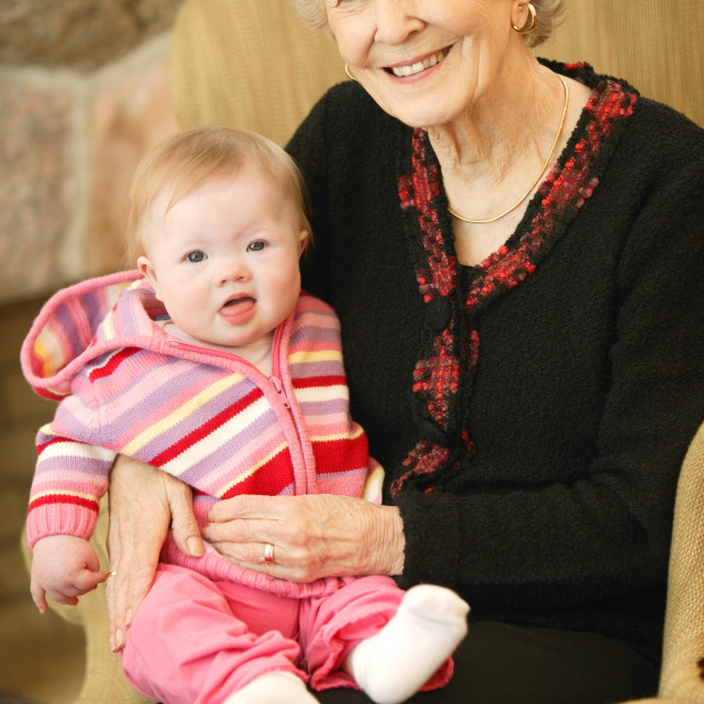 """""""Grandmother And Granddaughter"""" stock image"""