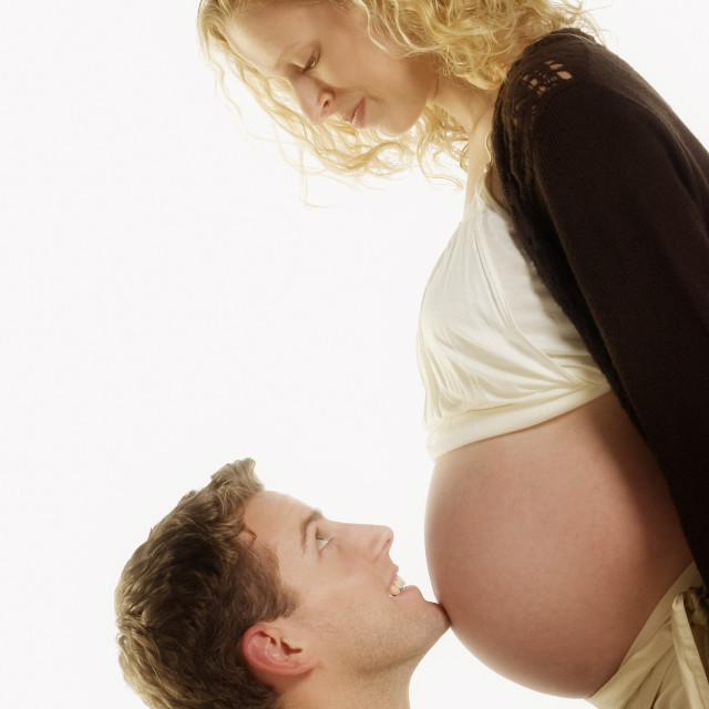 """Expecting Couple"" stock image"