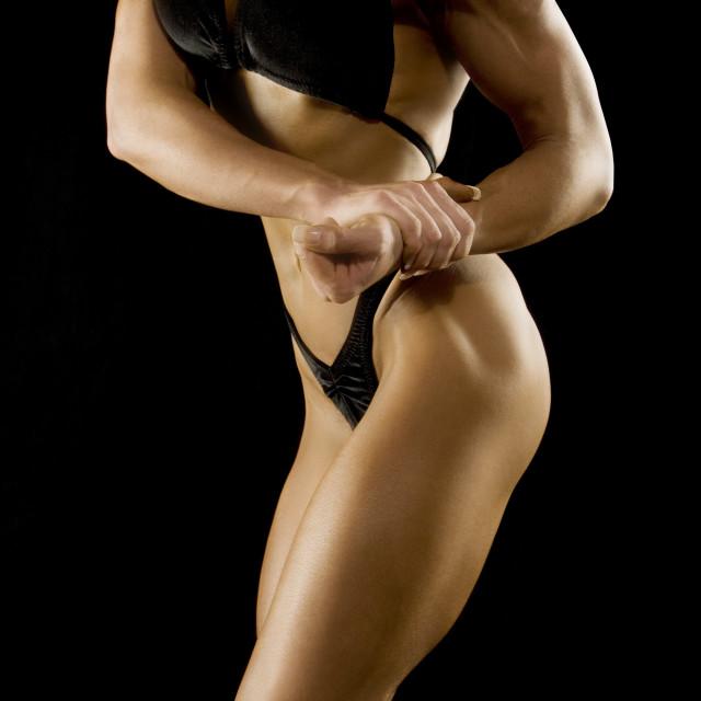 """Female Bodybuilder"" stock image"