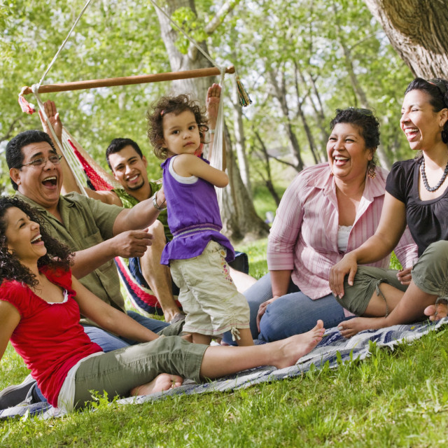 """A Family In The Park"" stock image"