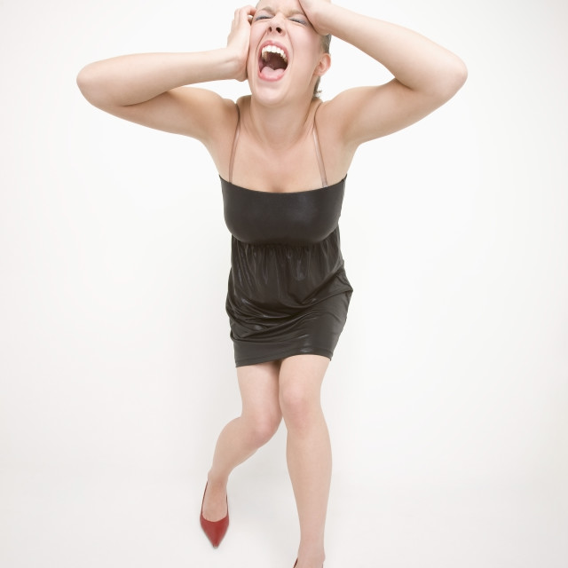 """""""Frustrated Woman"""" stock image"""