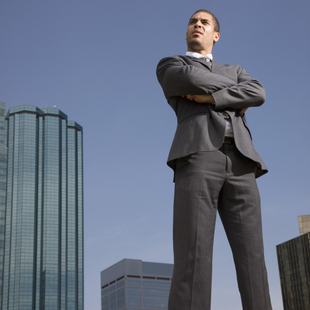 """""""Businessman With Arms Crossed"""" stock image"""