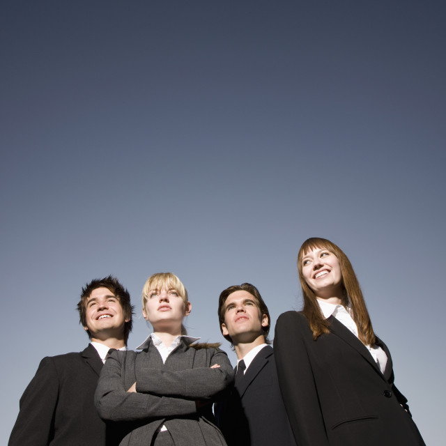 """""""Group Of Businessmen And Businesswomen"""" stock image"""