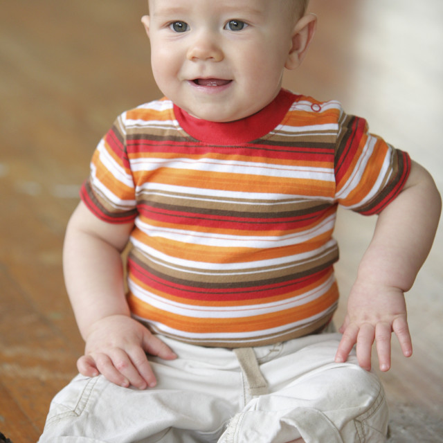 """Portrait Of Baby Boy"" stock image"