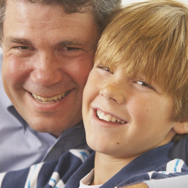 """A Father And Son"" stock image"