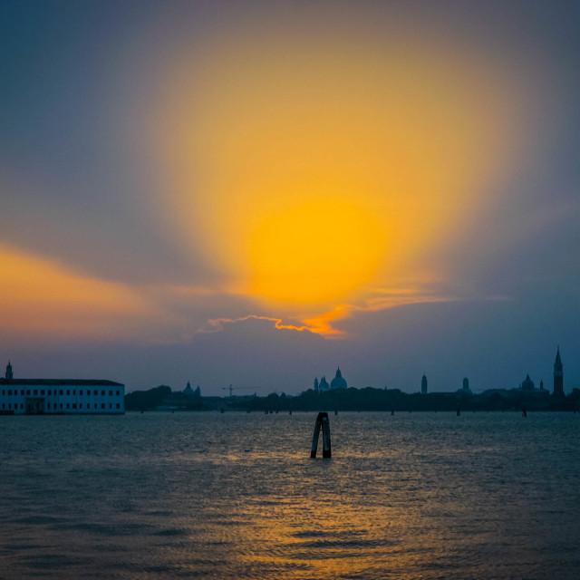 """Venetian Sunset"" stock image"