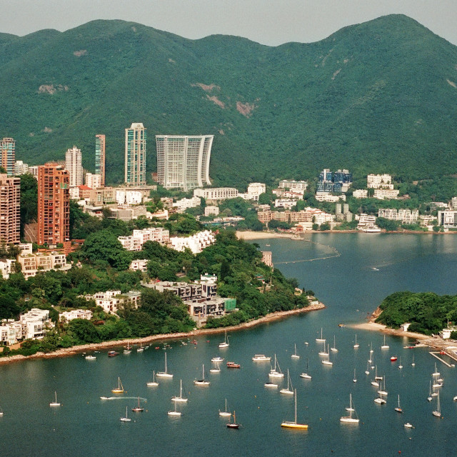 """Aberdeen Boat Club, Hong Kong"" stock image"