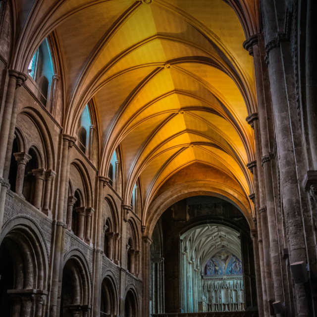 """Christchurch Priory"" stock image"