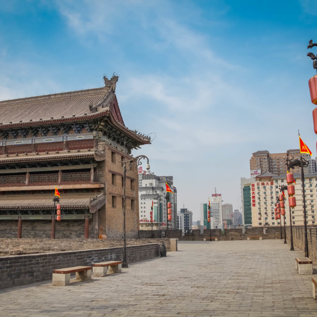 """On the wall in Xi'an"" stock image"
