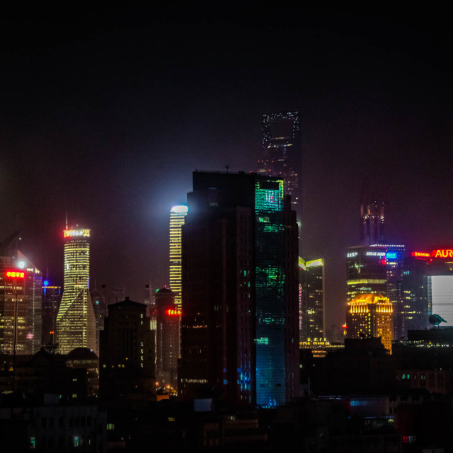 """Shanghai Night"" stock image"