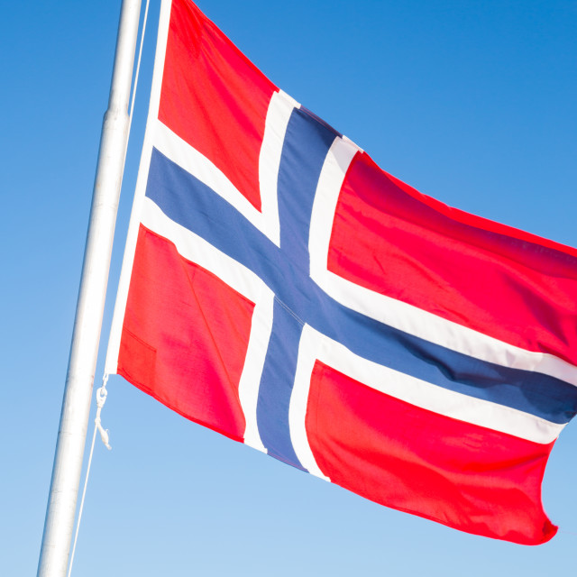 """""""National flag of Norway"""" stock image"""