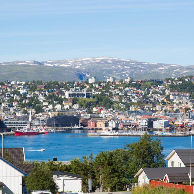 """""""City of Tromso, Norway"""" stock image"""