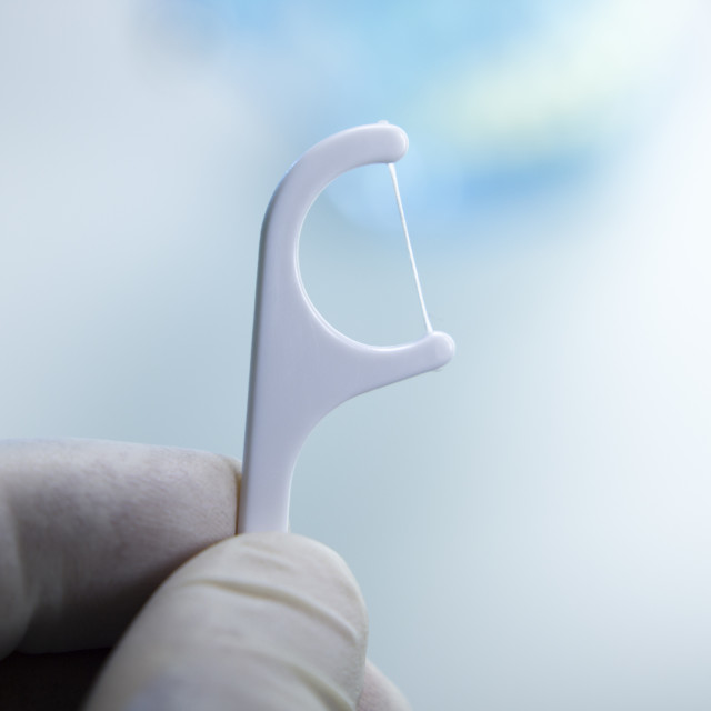 """Dental teeth interdental floss"" stock image"