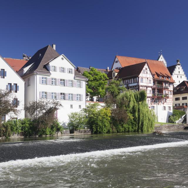 """Riedlingen, Danube River, Upper Swabia, Baden-Wuerttemberg, Germany"" stock image"