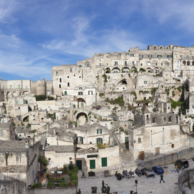 """Sasso Barisano and cathedral, UNESCO World Heritage Site, Matera, Basilicata,..."" stock image"