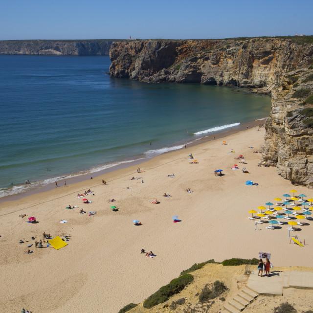 """""""Praia do Beliche, Sagres, Algarve, Portugal"""" stock image"""