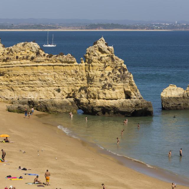 """Praia Dona Ana, Lagos, Algarve, Portugal"" stock image"