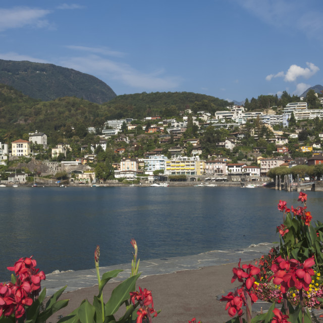 """Ascona, Lake Maggiore, Switzerland"" stock image"