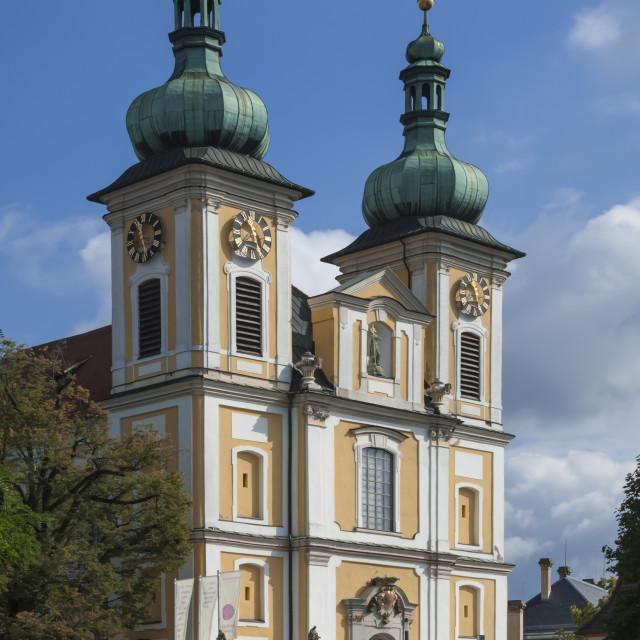"""The St Johann Kirke, Donauschingen, Black Forest, Germany"" stock image"