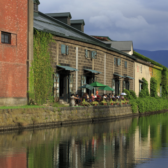 """Canal, Otaru City, Hokkaido Prefecture, Japan, Asia"" stock image"