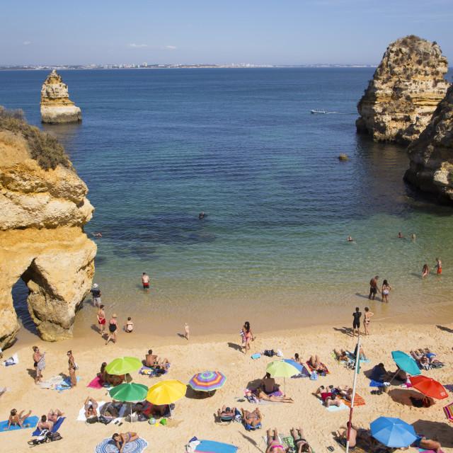 """Praia do Camilo, Lagos, Algarve, Portugal"" stock image"