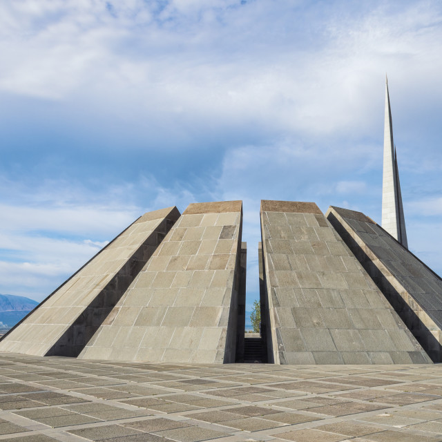 """Armenian Genocide Memorial, Tsitsernakaberd, Yerevan, Armenia, Caucasus, Asia"" stock image"