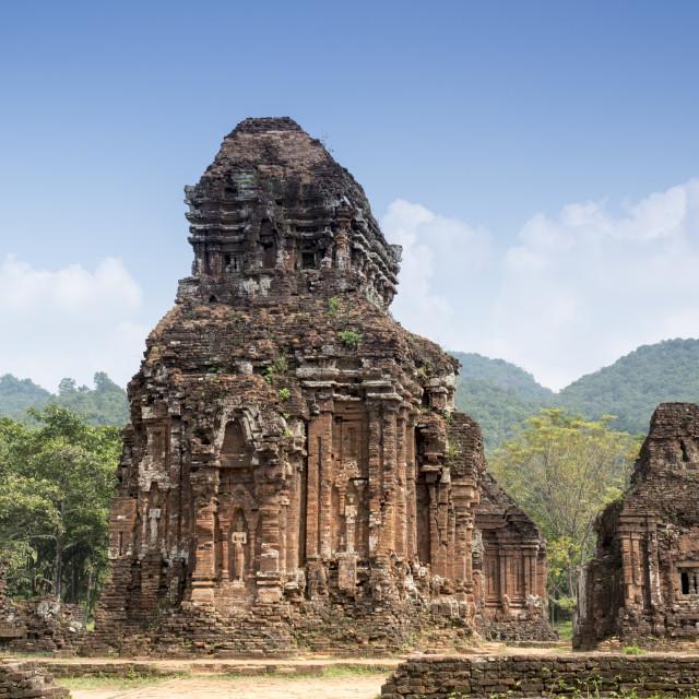 """Champa temple, My Son, UNESCO World Heritage Site, near Danang, Vietnam,..."" stock image"