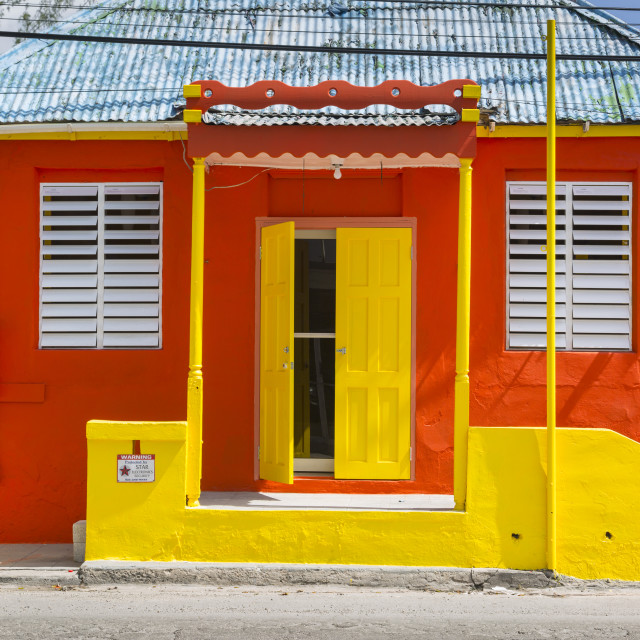 """""""Colourful house on Bay Street, Bridgetown, St. Michael, Barbados, West..."""" stock image"""