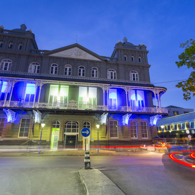 """Architecture, Bridgetown, St. Michael, Barbados, West Indies, Caribbean,..."" stock image"
