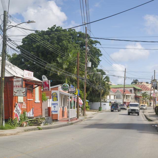 """Bay Street, Bridgetown, St. Michael, Barbados, West Indies, Caribbean,..."" stock image"