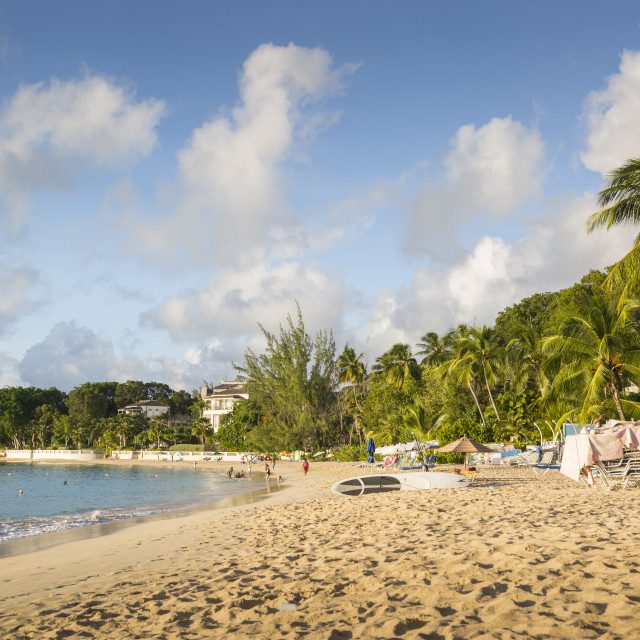 """""""Smugglers Cove Beach, Holetown, St. James, Barbados, West Indies, Caribbean,..."""" stock image"""