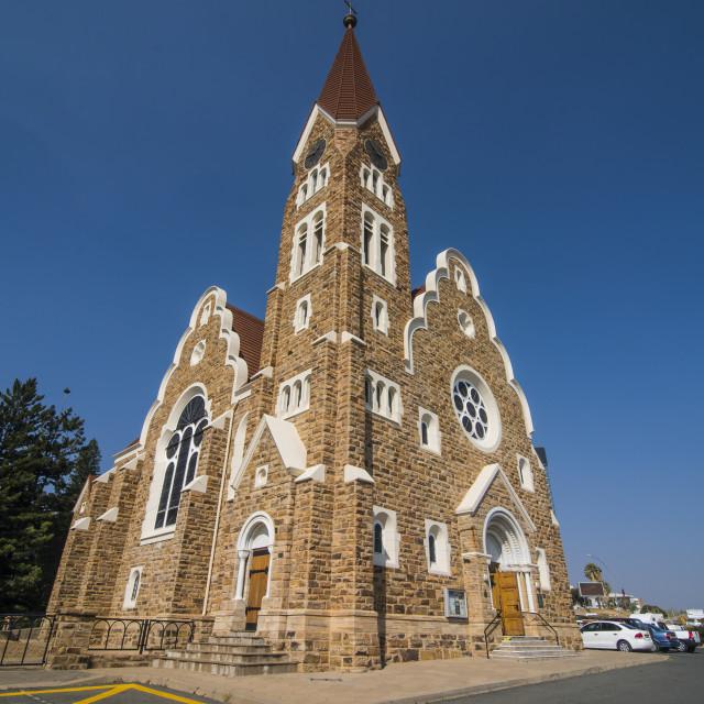"""Lutheran Christ Church, Windhoek, Namibia"" stock image"