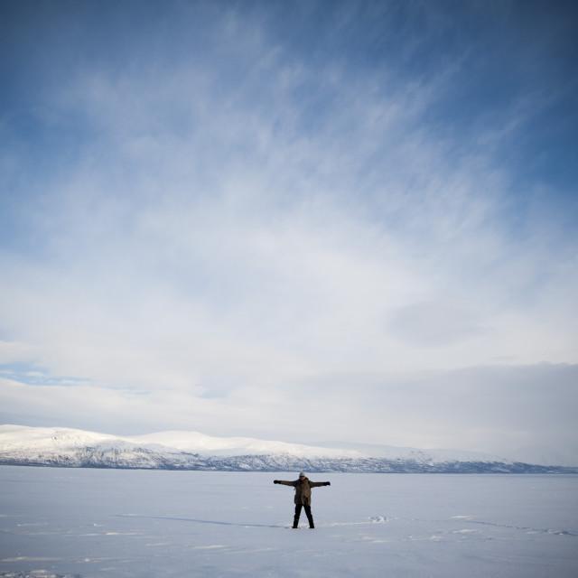 """Tornetrask Lake, Abisko National Park, Sweden."" stock image"