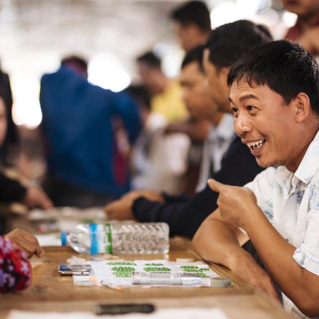 """""""Jade Market, Mandalay, Mandalay Region, Myanmar"""" stock image"""