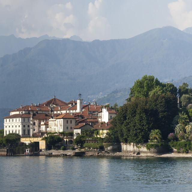 """""""Lake Maggiore, Isola Bella, Isola Pescatori, Switzerland"""" stock image"""
