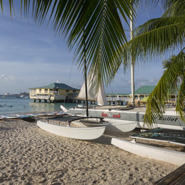 """""""Brownes Beach, Bridgetown, St. Michael, Barbados, West Indies, Caribbean,..."""" stock image"""