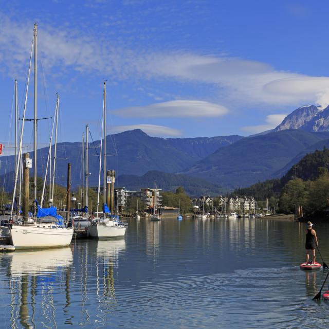 """Marina, Squamish, Vancouver, British Columbia, Canada, North America"" stock image"