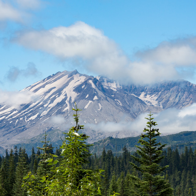 """Mount St Helens, part of the Cascade Range, Pacific Northwest region"" stock image"