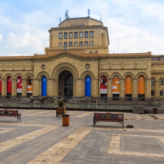 """""""Republic Square in the morning, Yerevan, Armenia, Caucasus, Middle East, Asia"""" stock image"""