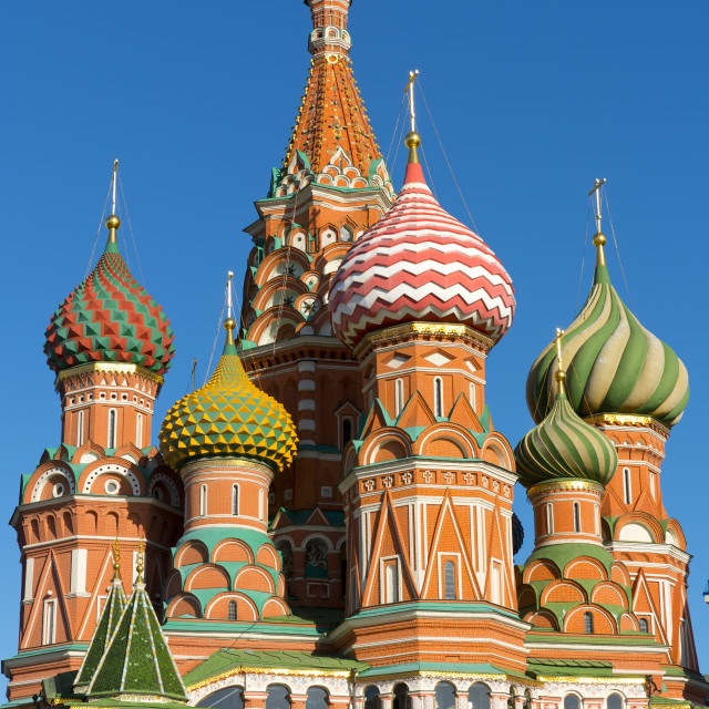 """Saint Basil's Cathedral, Moscow, Russian Federation"" stock image"