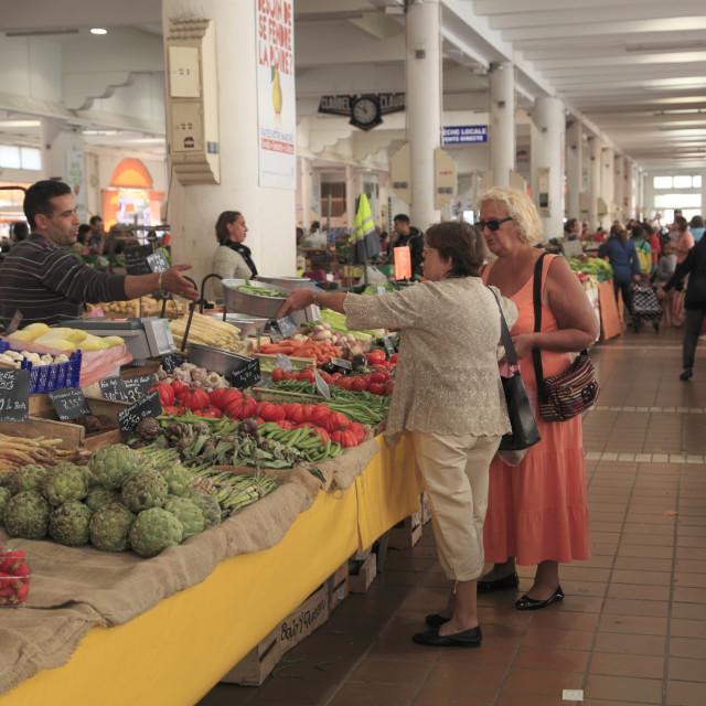 """""""Marche Forville, Forville Market, Cannes, Alpes Maritimes, Cote d'Azur,..."""" stock image"""