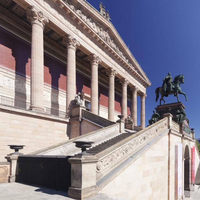 """""""Alte Nationalgalerie, Museumsinsel, UNESCO Weltkulturerbe, Mitte, Berlin,..."""" stock image"""