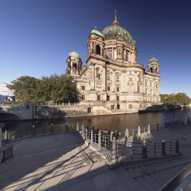 """Berliner Dom (Berlin Cathedral), Spree River, Museum Island, UNESCO..."" stock image"