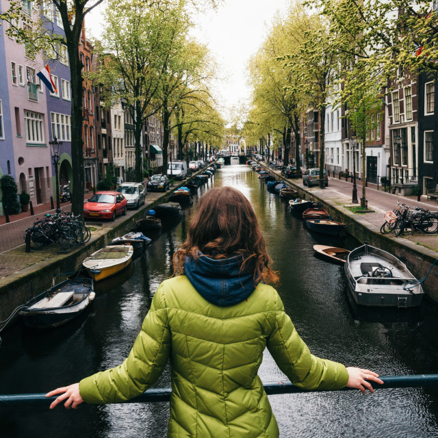 """The canal of Amsterdam, Netherlands"" stock image"