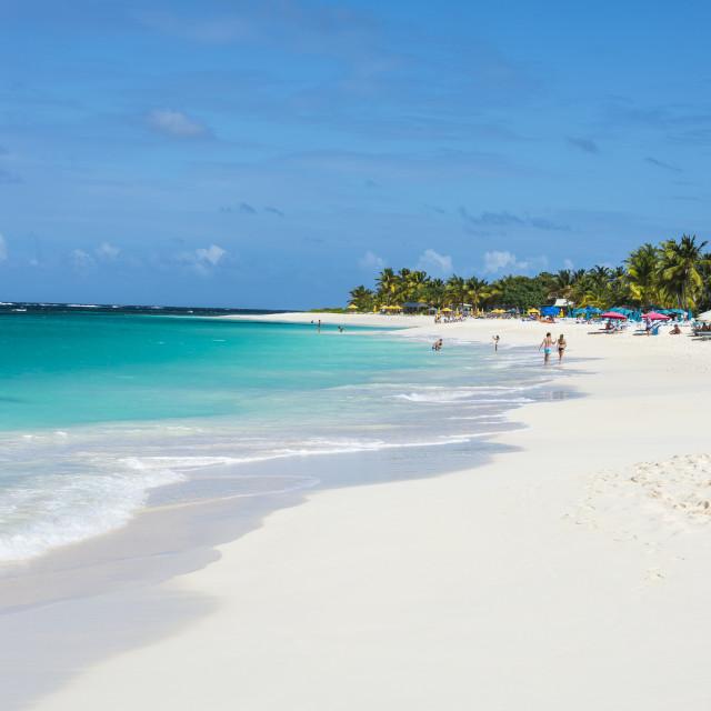 """World class Shoal Bay East beach, Anguilla, Caribbean, British Oversea..."" stock image"