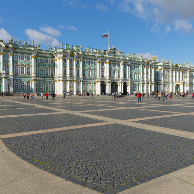 """Palace Square (Dvortsovaya Place) and the Winter Palace (State Hermitage..."" stock image"