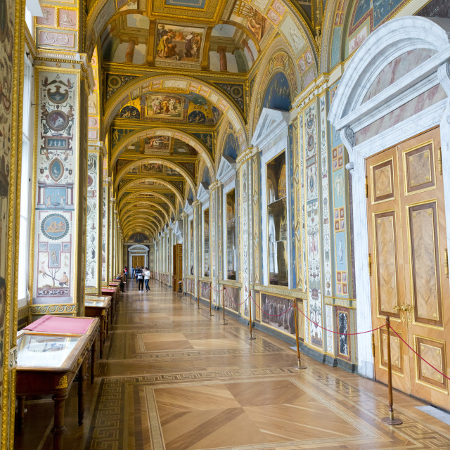 """Interior of the Winter Palace, State Hermitage Museum, Saint Petersburg, Russia"" stock image"
